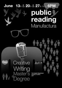 ma creative writing reading list The lancaster writing programme offers a number of taught and research degrees in creative writing ma creative writing (project) ma creative writing (distance learning.